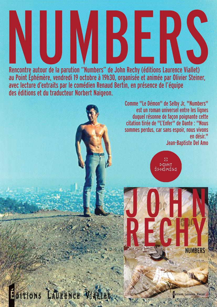 Rencontre autour de John Rechy à l'occasion de la traduction en français de Numbers.